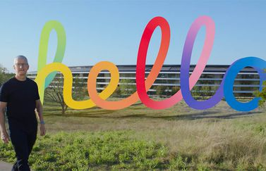 Spring Loaded: Tim Cook met Hello-logo