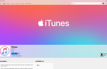 iTunes in Microsoft Store