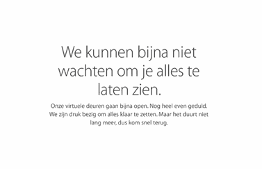 Apple Store offline in het Nederlands