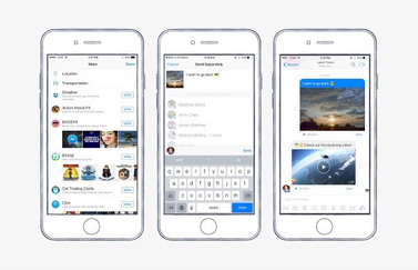 Facebook Messenger met Dropbox-integratie.