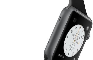 De microfoon van de Apple Watch.