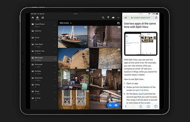 Adobe Lightroom met split view