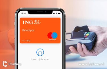 ING-kaart met Apple Pay.