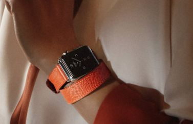 Apple Watch Hermes in donkere omstandigheden