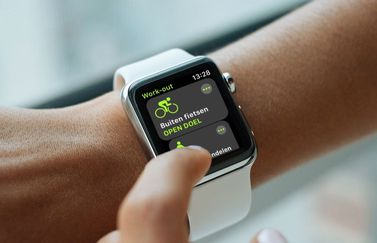 Workout-app op de Apple Watch.