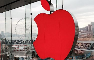 apple logo rood