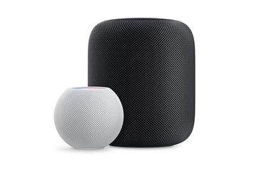 HomePod vs HomePod mini.