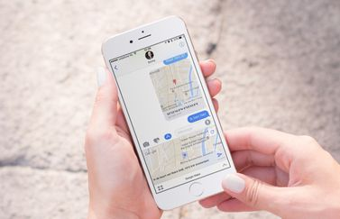 Google Maps met iMessage-app.