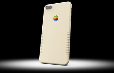 iPhone 7 Plus van ColorWare met Macintosh skin.
