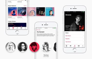 Apple Music concept voor iOS 11.