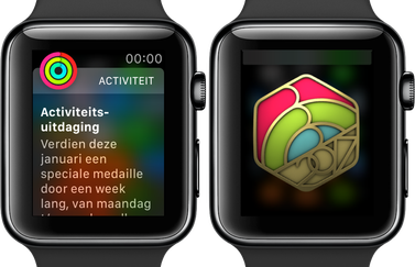 Activiteitsuitdaging Apple Watch januari 2017