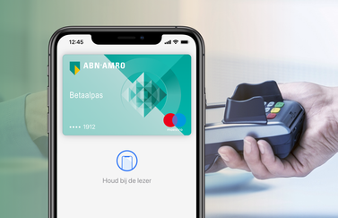 ABN AMRO kaart voor Apple Pay.
