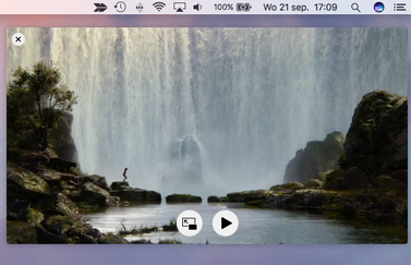 Een video in Picture in Picture op de Mac.