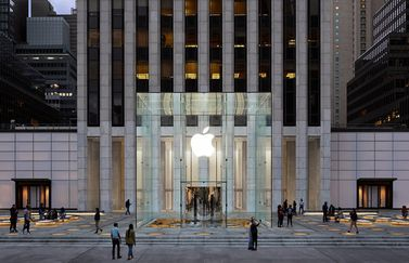Apple Store Fifth Avenue glazen kubus