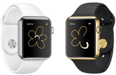 Digital Touch op de Apple Watch met bloem.