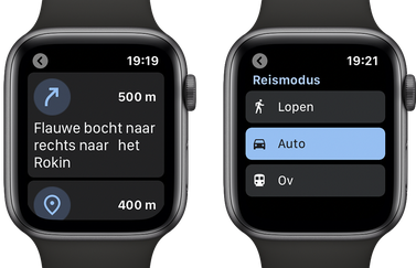 Google Maps op Watch