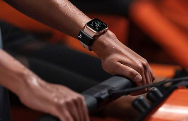 Apple Watch OrangeTheory hartslag sensor.