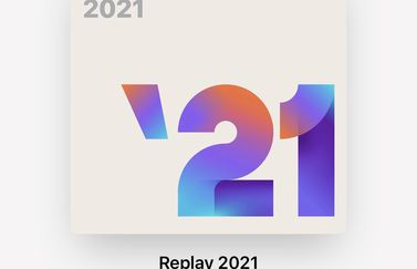 Apple Music Replay 2021 cover.