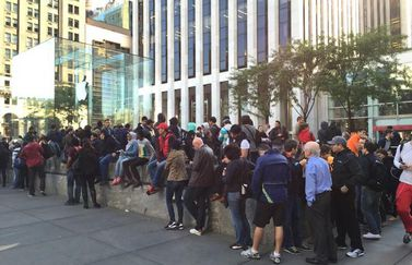 apple store iphone 6 wachtrij