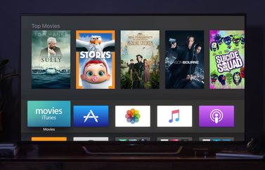 Apple TV beginscherm.