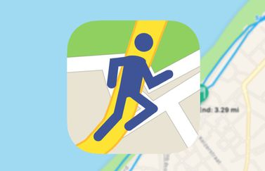 Runners Map icoon.