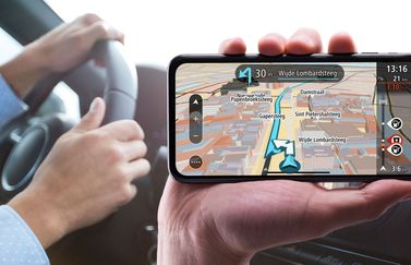 TomTom GO Mobile op de iPhone X.