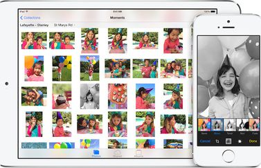 iOS 8 camera fotoalbum iPad iPhone