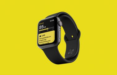 Geluid/Noise-app op Apple Watch.