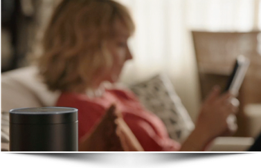 Amazon Echo Siri-assitent met speaker