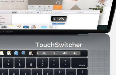 TouchSwitcher op de Touch Bar.
