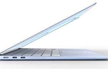 MacBook Air in het blauw (concept).