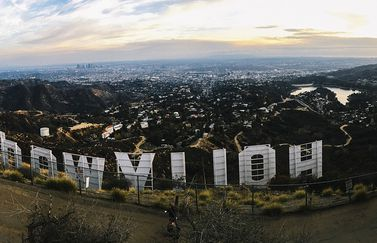 Hollywood-logo in panorama.