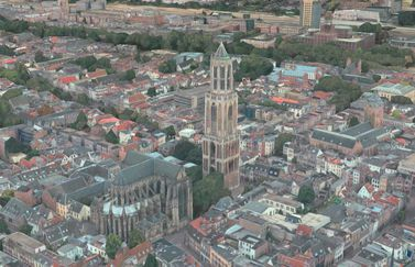 Utrecht in 3D in Apple Maps.