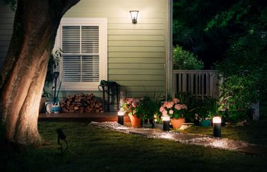 Philips Hue outdoor Calla en tuinverlichting.