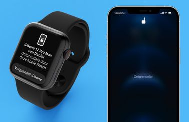 iPhone en Apple Watch: ontgrendelen met mondkapje