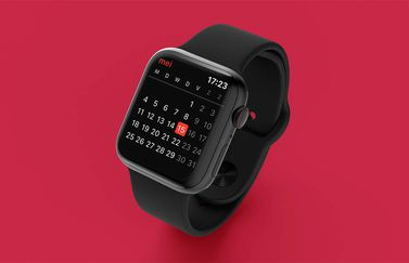 Apple Watch Agenda: maandoverzicht