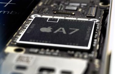 Secure Enclave in de A7-chip op de iPhone 5s.