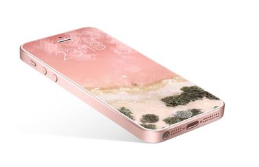 iPHone SE 2017 concept in rosegoud.