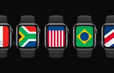 watchOS 7 International wijzerplaat met vlaggen.