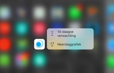 Weeronline 3D Touch op de IPhone 6s.