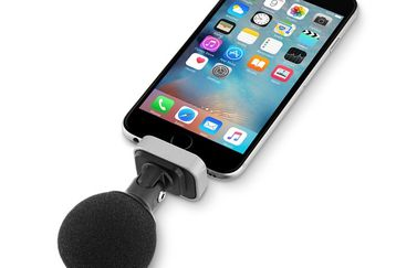 Shure MOTIV MV88 voor de iPhone met windkap.