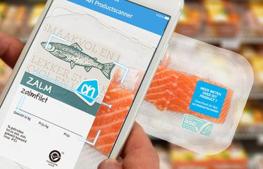 AH Productscanner zalmfilet