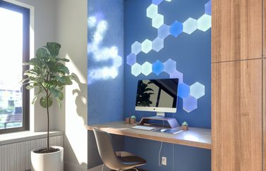 Nanoleaf Hexagon lampen.