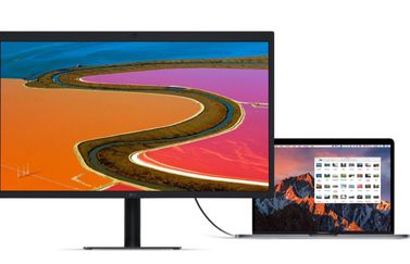 LG UltraFine 5K-display met MacBook Pro.