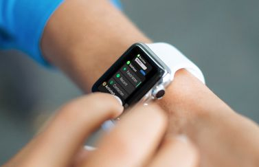 Dock op de Apple Watch in gebruik.