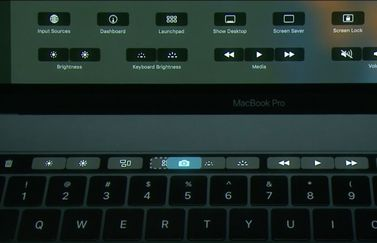 Touch Bar in MacBook Pro aanpassen.