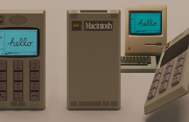 Traditionele iPhone in Macintosh design.