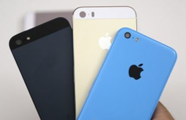 iPhone 5S champagne en iPhone 5C beelden