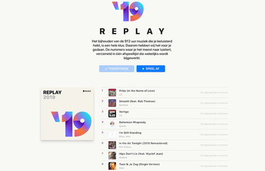 Apple Music Replay overzicht