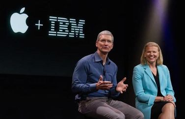 Apple en IBM, Tim Cook en Ginny Rometty